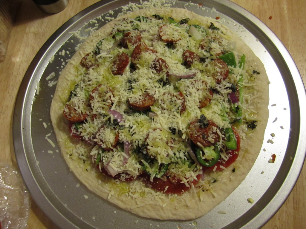 homemade pizza from the garden